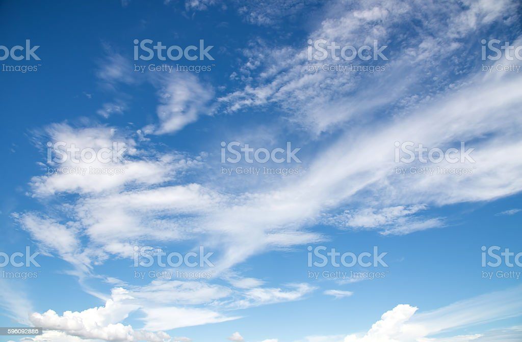 Blue sky and white cloud background. Lizenzfreies stock-foto