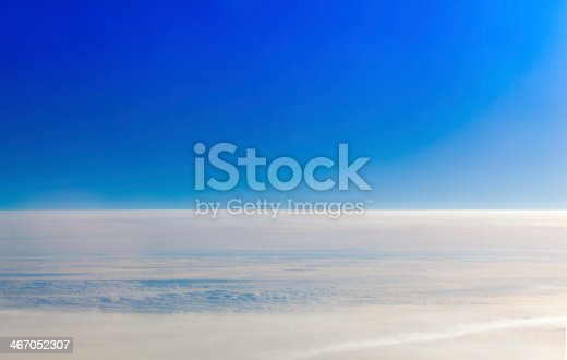 istock Blue sky and white cloud. 467052307