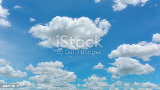istock Blue sky and white cloud 486551014