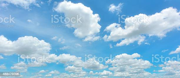 Photo of Blue sky and white cloud