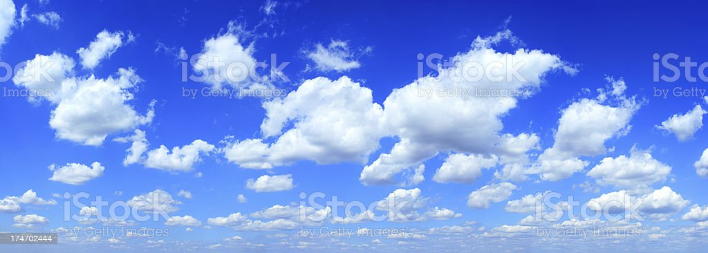 Blue sky and white clouds (XXXL) 40mpx royalty-free stock photo