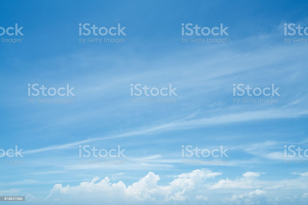 Blue sky and white clouds in the sky. stock photo