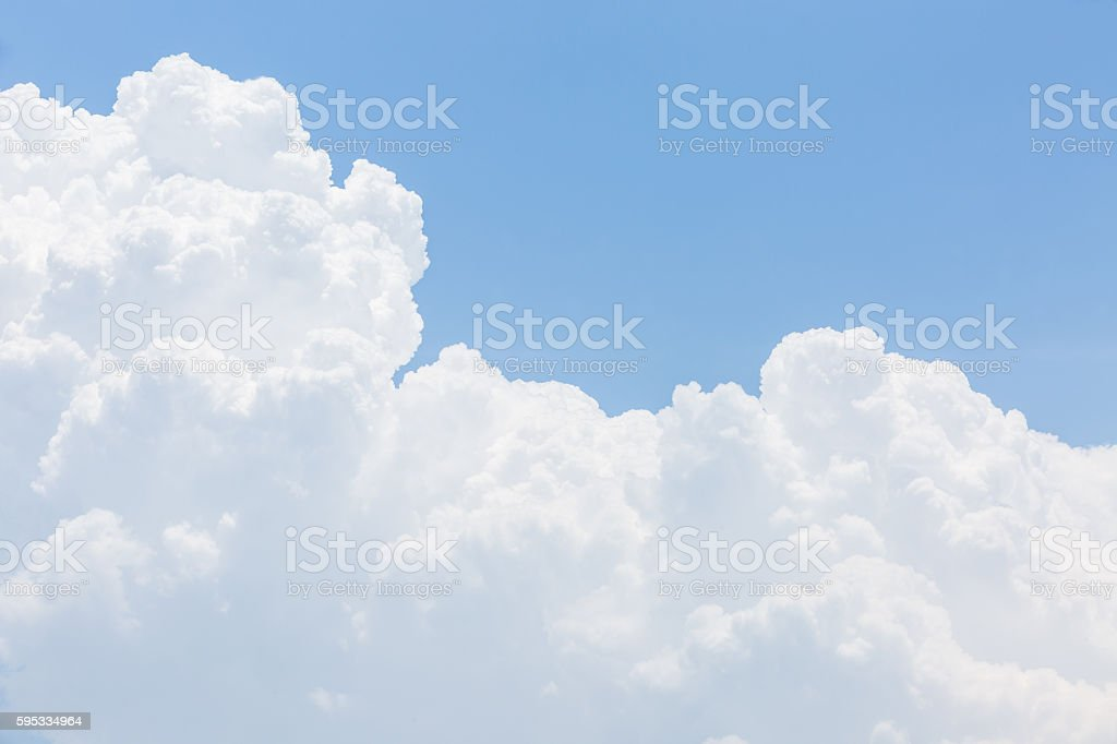 blue sky and white clouds nature background stock photo