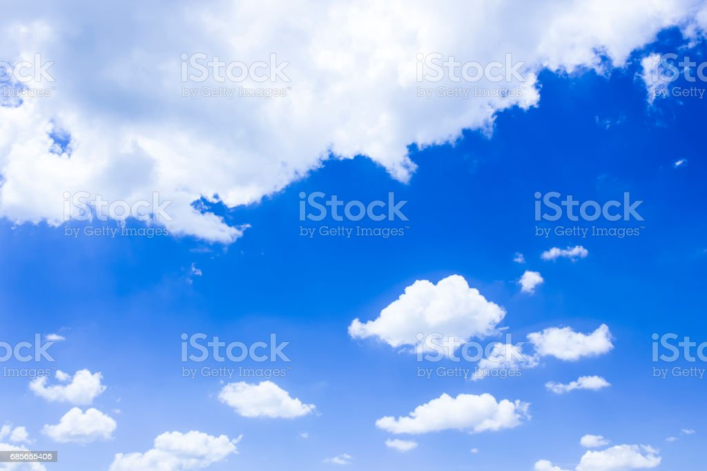 Blue sky and white clouds. On the day crystal clear sky 免版稅 stock photo