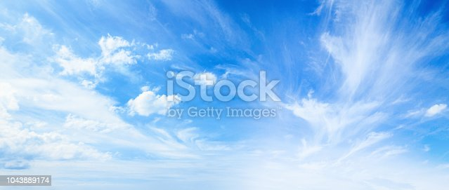 istock Blue sky and white clouds 1043889174