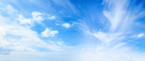 blue sky and white clouds - cloud sky stock pictures, royalty-free photos & images