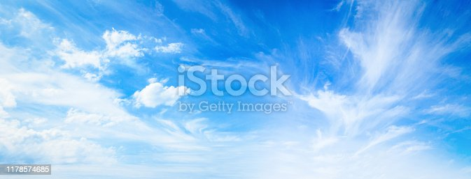 istock Blue sky and white clouds 1178574685