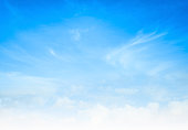 istock Blue sky and white clouds 1178574690