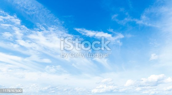 istock Blue sky and white clouds 1179767530
