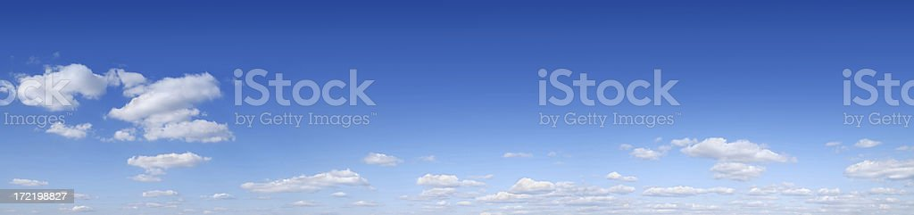 Blue sky and white clouds (Panorama) SCROLL DOWN for more royalty-free stock photo