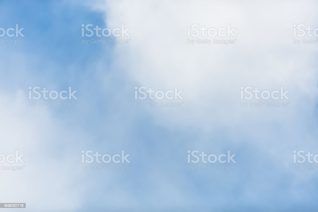 Blue Sky And White Fluffy Clouds royalty-free stock photo