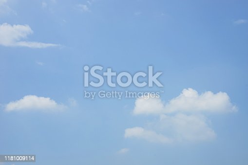 186849963 istock photo Blue sky background and white clouds soft focus 1181009114