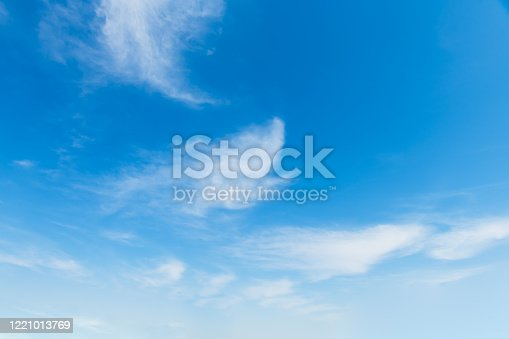 186849963 istock photo Blue sky background and white clouds soft focus 1221013769