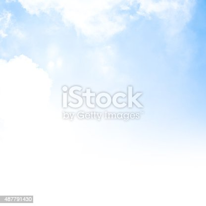 istock Blue sky background border 487791430
