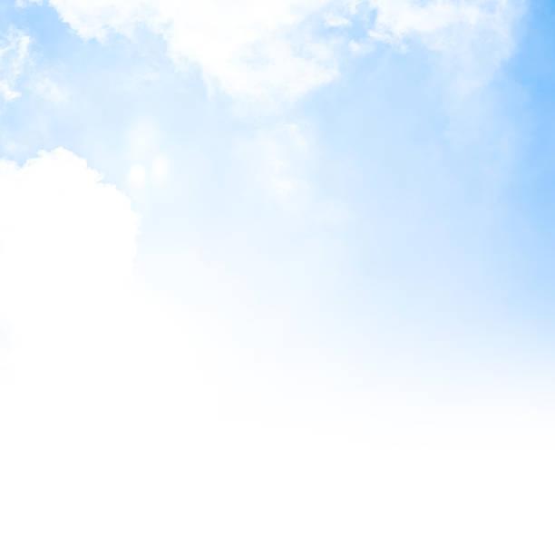 Blue sky background border stock photo