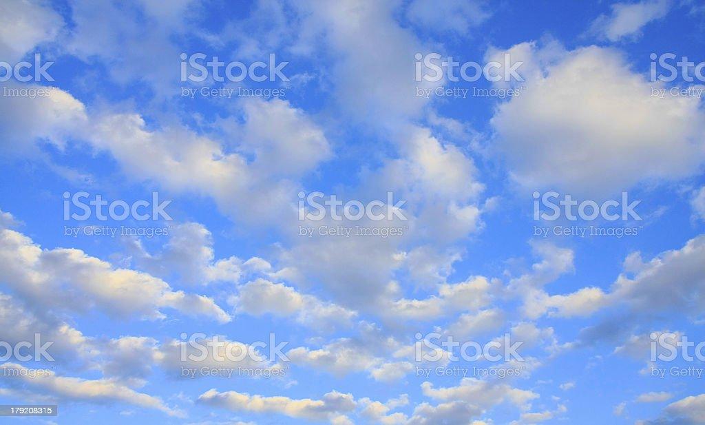 Blue sky background. royalty-free stock photo