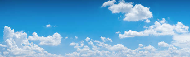 blue sky background. - clouds stock photos and pictures