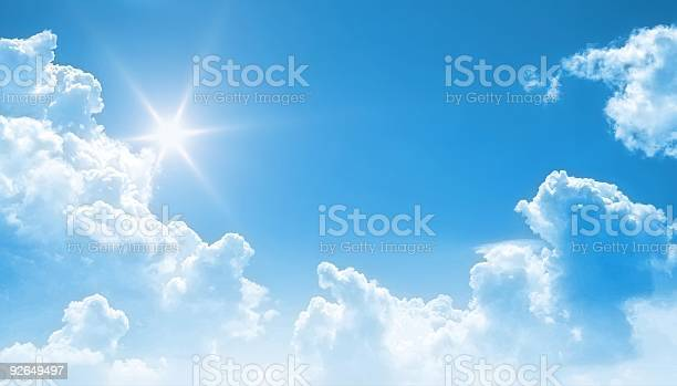 Blue Sky Background Stock Photo - Download Image Now