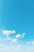 Clouds in the clear sky, natural background
