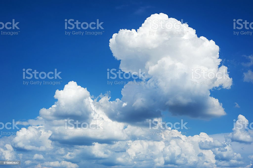 blue sky background with soft cloud at day stock photo