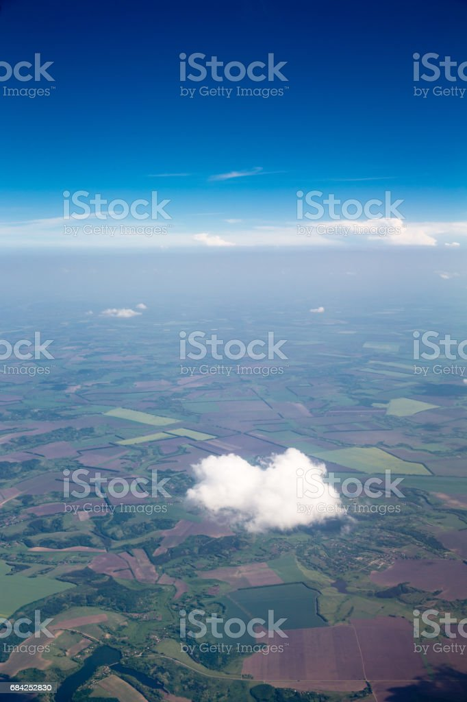 Blue sky background with tiny clouds royalty-free stock photo