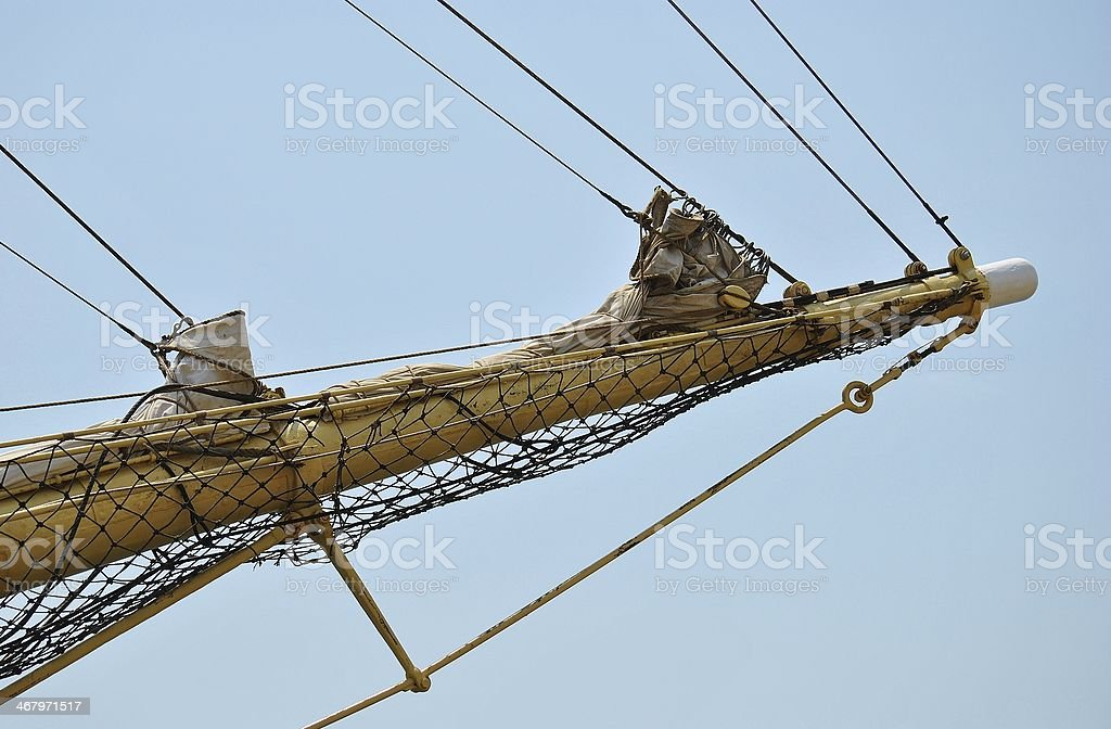 Blue Sky Bowsprit stock photo
