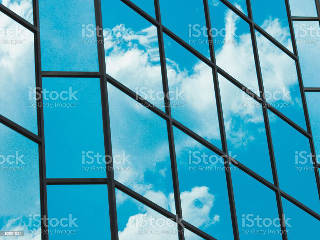 Blue Sky Building Windows royalty-free stock photo