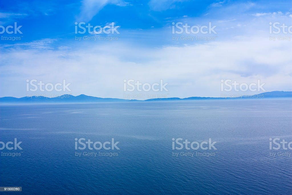 blue sky clouds and sea, outdoor photo beauty in nature stock photo