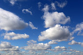 Spring cloudscape, beautiful background for good sunny weather