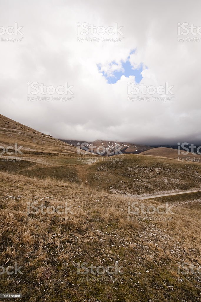 blue sky in a stormy day royalty-free stock photo