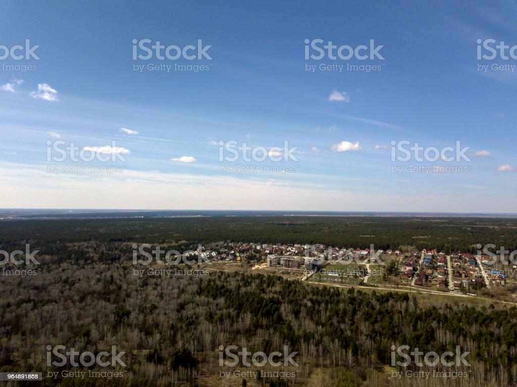 森林中的藍天 - 免版稅俄羅斯圖庫照片