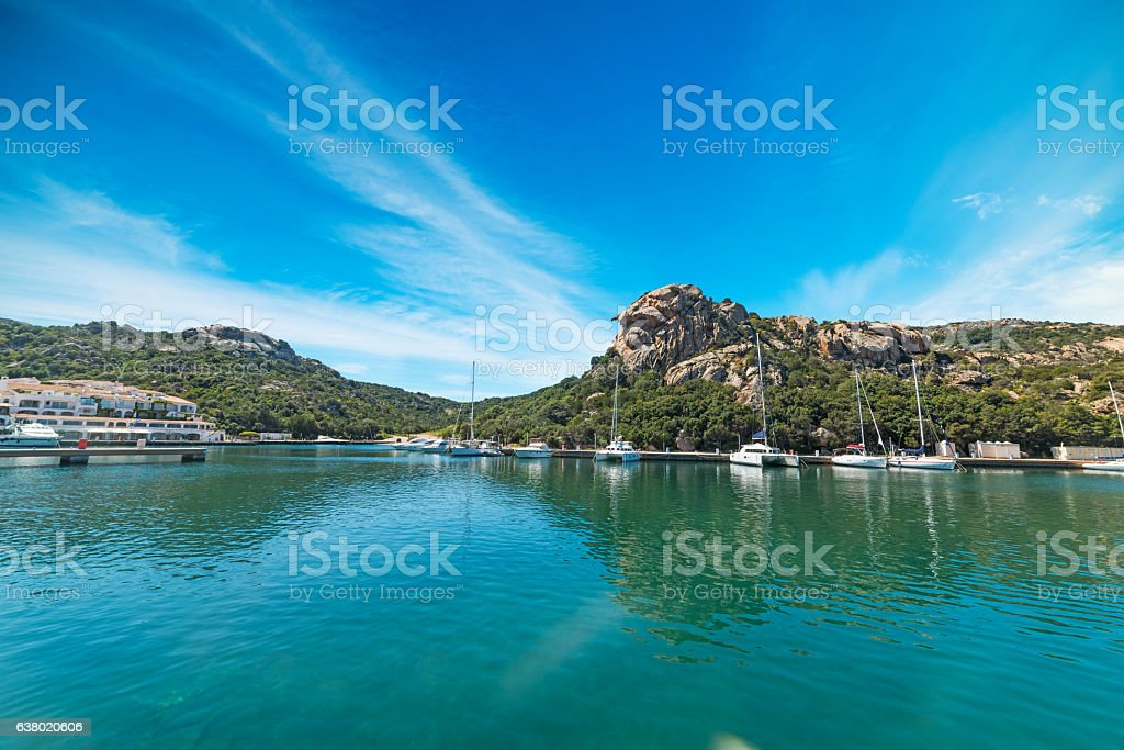 blue sky in Poltu Quatu stock photo