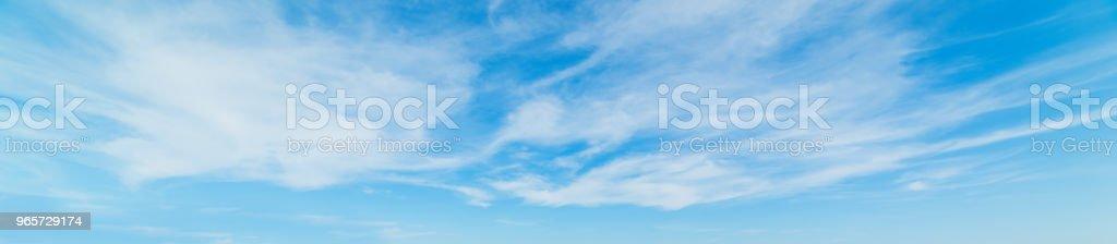 Blue sky in spring - Royalty-free Ambiente Foto de stock