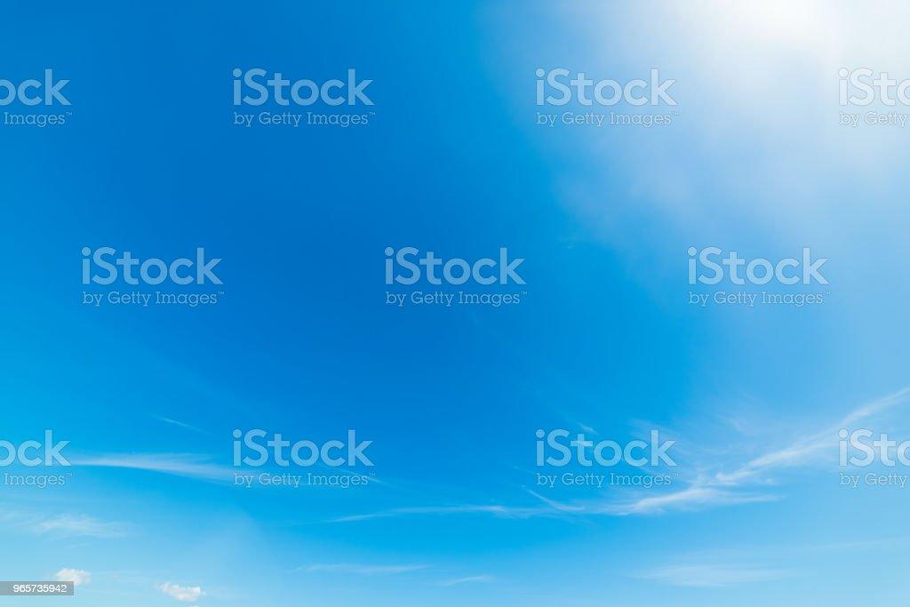 Blauwe hemel in de lente - Royalty-free Afbeelding Stockfoto