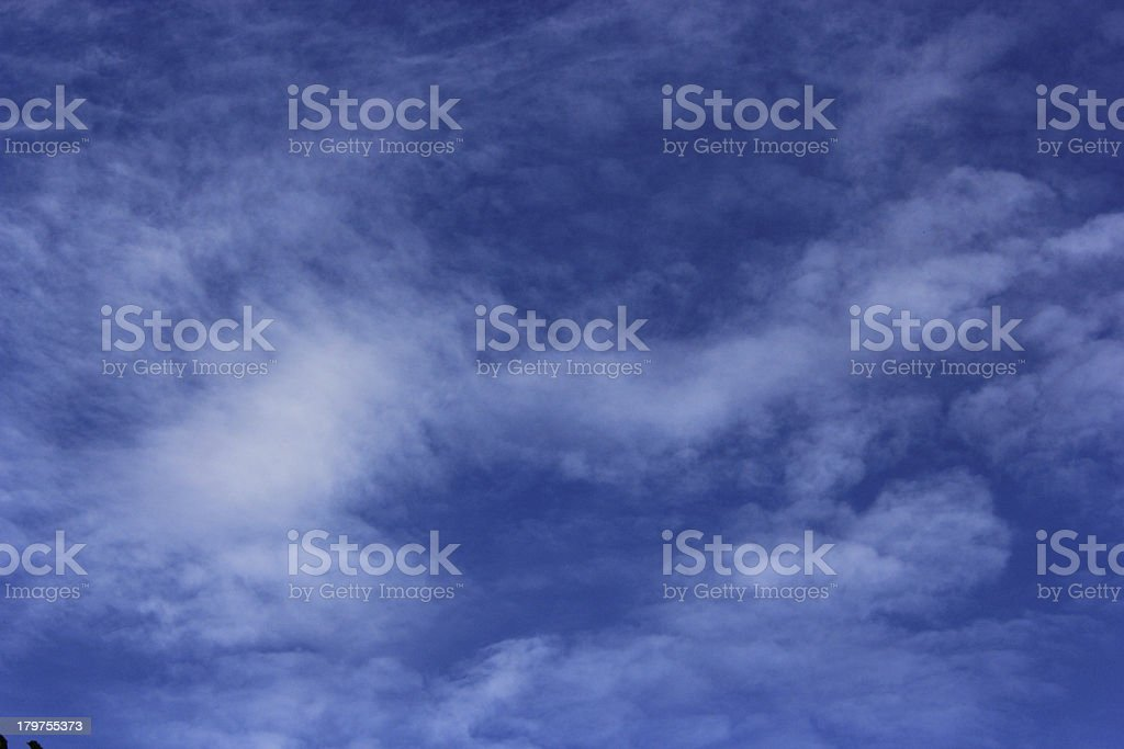 blue sky is covered by white clouds royalty-free stock photo