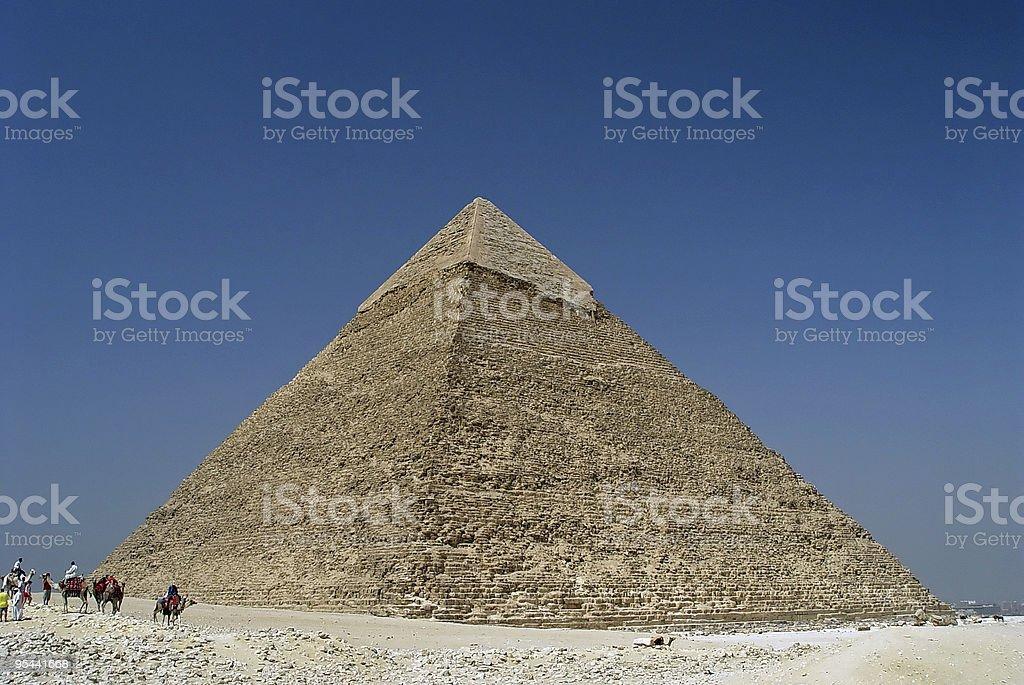 Blue sky on Giza royalty-free stock photo