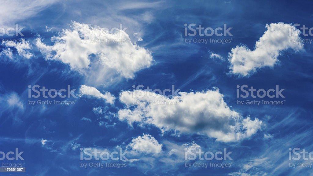Blue Sky on Gray Day royalty-free stock photo