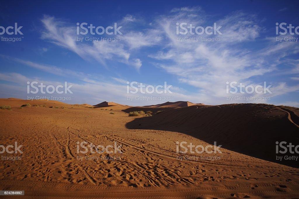 Blue Sky on Sahara Dessert stock photo