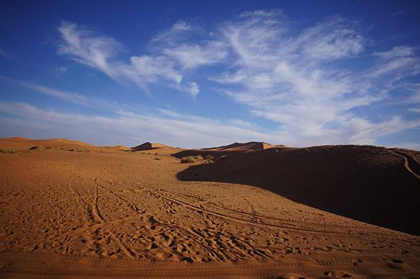 Blue Sky on Sahara Dessert stock photo