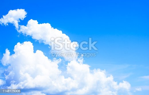 istock Blue sky on sunshine day 1148125005
