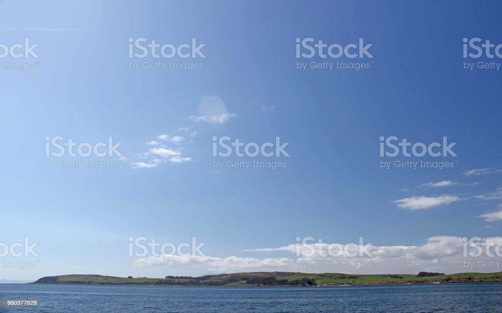 Blue Sky over Cumbra stock photo