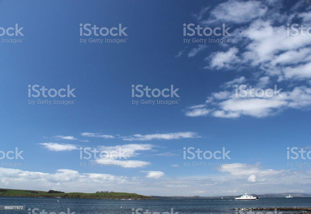 Blue Sky Over Cumbrae stock photo