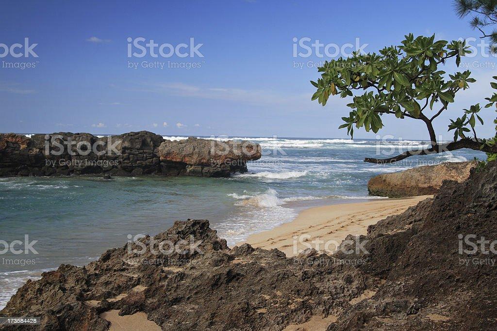 Blue Sky over Hawaii beach royalty-free stock photo