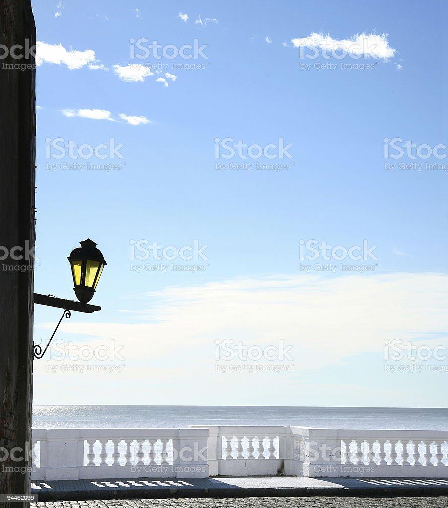 Blue sky over promenade royalty-free stock photo