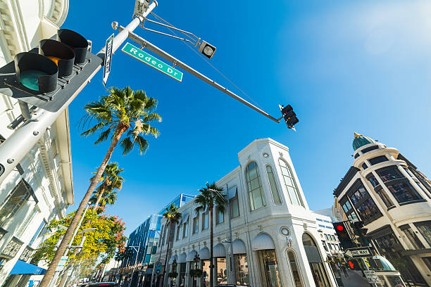 blue sky over Rodeo drive ストックフォト