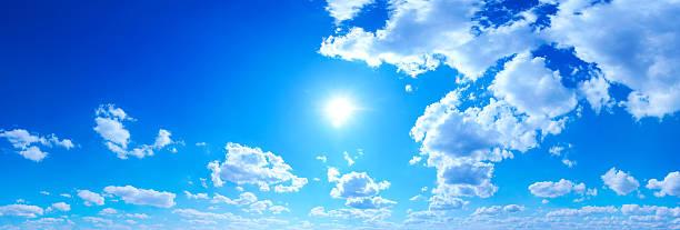 Blue Sky panorama stock photo