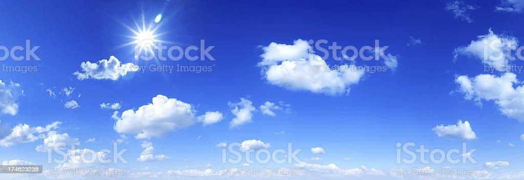 Blue Sky panorama - Royalty-free Beauty Stock Photo
