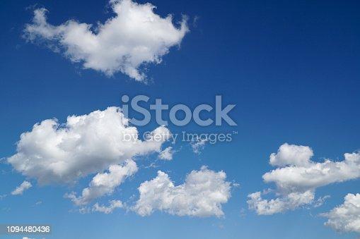 Cloud on blue sky background.