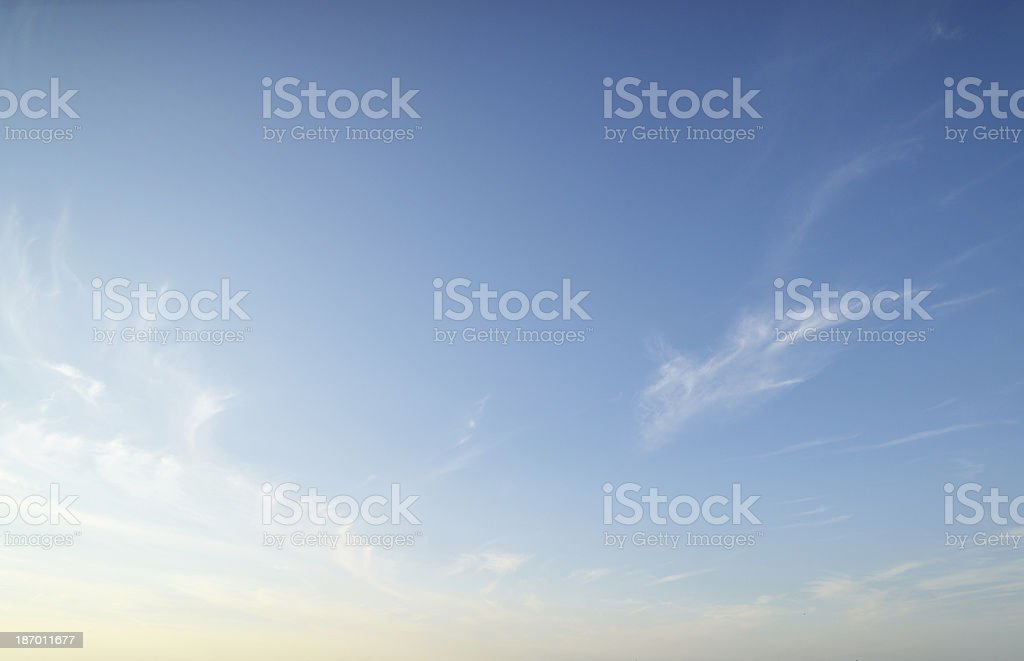 Blue sky. royalty-free stock photo