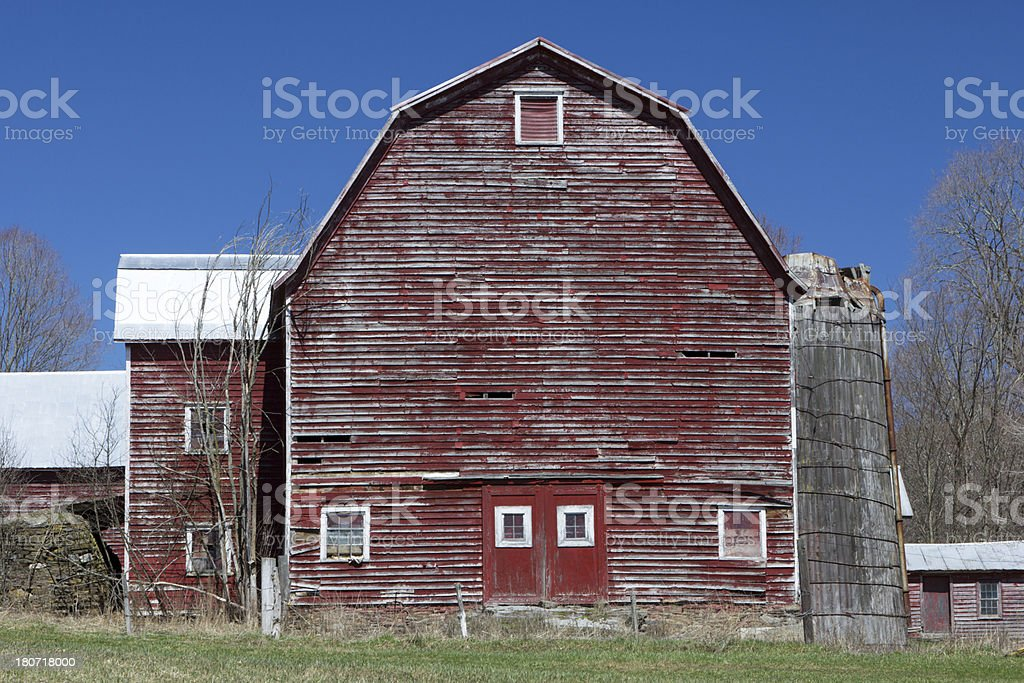 Blue Sky Red Barn royalty-free stock photo